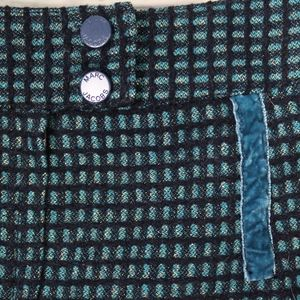 Marc Jacobs Skirts - Marc Jacobs Wool Tweed Velvet Blue Skirt Size 6